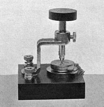 The first crystal detector commercially produc...