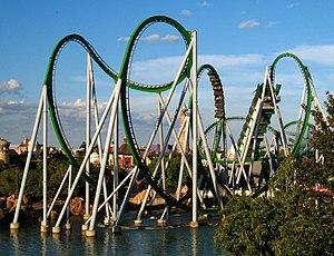 English: The Incredible Hulk Coaster, Islands ...