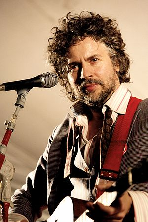 Wayne Coyne from the Flaming Lips performing i...