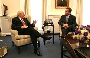 Vice President Dick Cheney meets with Gov. Arn...