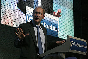 Tim Berners-Lee speaking at the launch of the ...