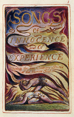 William Blake's frontispiece for Songs of Inno...