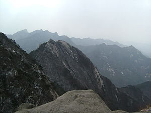 Bukhansan National Park, from near the peak of...
