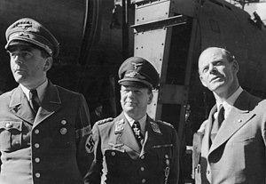 Messerschmidt meets with Milch (center) and Mi...
