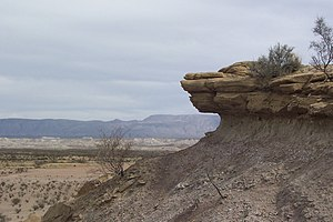 Rock formations in the Chihuahuan Desert at Bi...