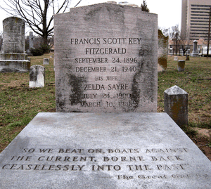The grave of F. Scott Fitzgerald and Zelda Fit...