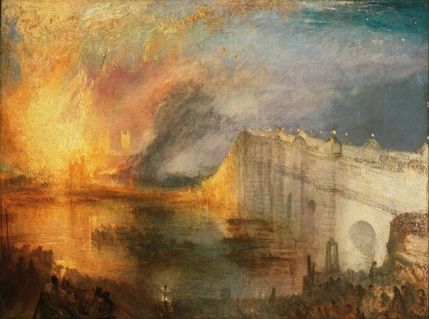 Joseph Mallord William Turner, English - The Burning of the Houses of Lords and Commons, October 16, 1834 - Google Art Project