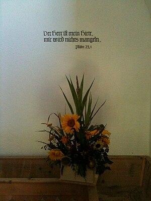 Deutsch: Psalm 23 im Chor der reformierten Kir...