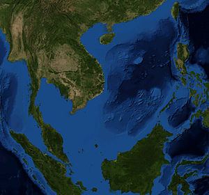 Satellite Picture of the South China Sea