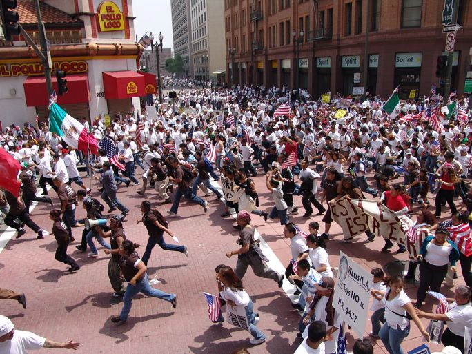 May Day Immigration March LA16