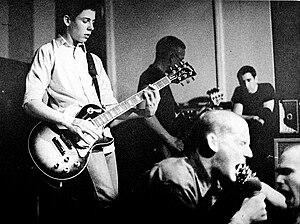 English: Members hardcore punk rock band Minor...