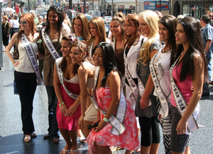 Miss Teen USA 2007 delegates, in Los Angeles t...