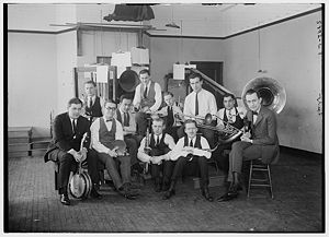 Paul Specht (1895-1954) and his orchestra in a...