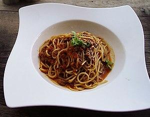 Shot of Spaghetti Bolognese