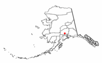 Location of Willow, Alaska