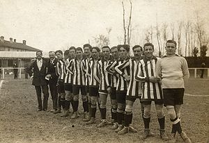 Italian football team Atalanta in season 1913-14