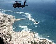 US Army helicopter shortly before Battle of Mogadishu, 1993