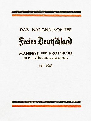 Deutsch: Broschüre mit dem Protokoll und dem M...