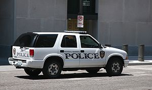 Federal reserve police car, St. Louis, MO