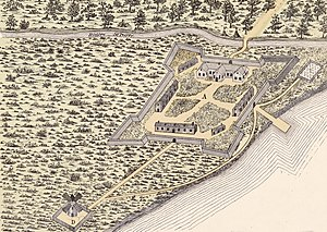 English: Fort of Ville-Marie (Montreal) 1645 F...