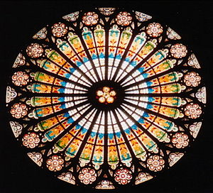 Rose window in Strasbourg Cathedral