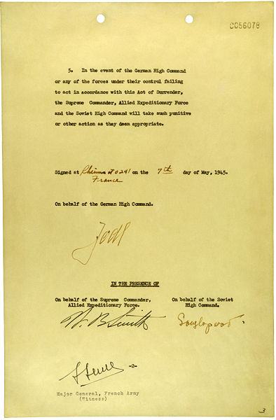 File:German Instrument of Surrender (May 7, 1945) - page 2.jpg