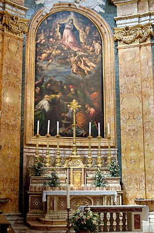 High altar the church San Luigi dei Francesi A...