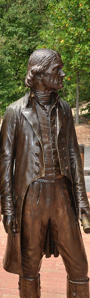 Statue of Thomas Jefferson at the Monticello V...