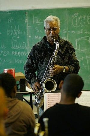 Kidd Jordan playing saxophone at Luscher Schoo...