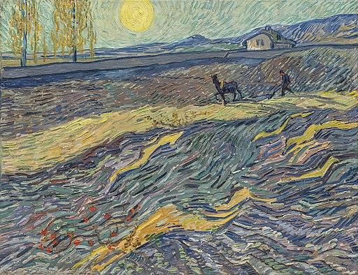 Laboureur dans un champ - van Gogh (1889-1890, Christie's)