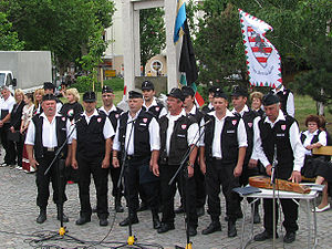 English: The Magyar Gárda (Hungarian Guard) in...