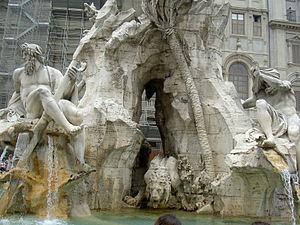 "The ""Fontana dei fiumi"" (Fountain of..."