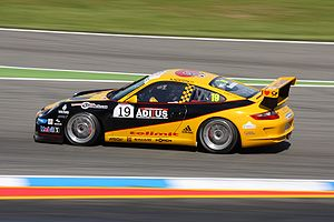 Porsche racing car at Hockenheim Ring, Niclas ...