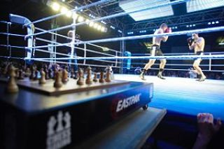 A chess boxing match in Berlin, 2008