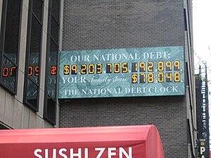 US national debt clock / billboard. Picture wa...