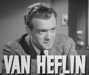 Cropped screenshot of Van Heflin from the trai...
