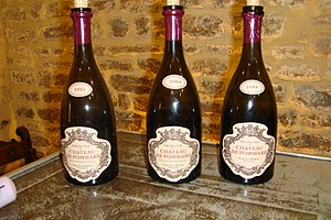 Vertical lineup of Pinot noir wines from the B...