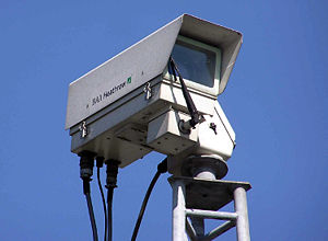 Security camera at London (Heathrow) Airport. ...