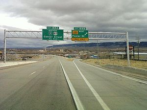 English: Interstate 25 southbound at exit 188B...