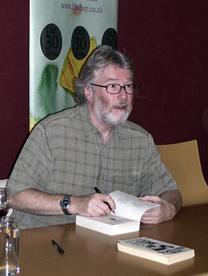 English: Iain Banks, author, at the Edinburgh ...