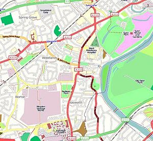 English: Map of Isleworth