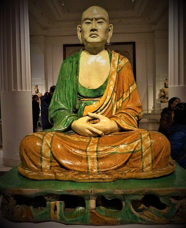 Luohan - Yixian Glazed Ceramic Sculpture - British Museum - Joy of Museums