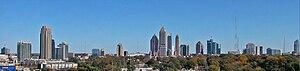 English: Midtown Atlanta viewed from the North...