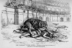 US cartoon 1870s by Thomas Nast