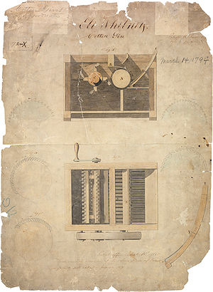 Eli Whitney's Patent for the Cotton gin, March...