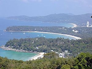 Phuket, Thailand shore. From south to north (c...