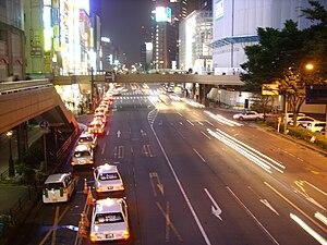 Sendai station night
