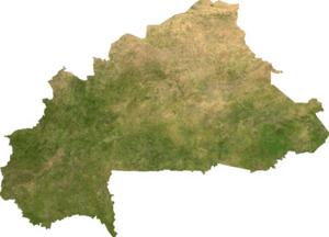 Satellite image of Burkina Faso