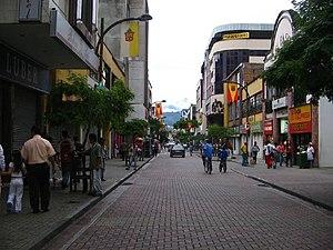 Una calle en Pereira. Colombia
