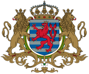 Middle coat of arms of the Grand Duchy of Luxe...